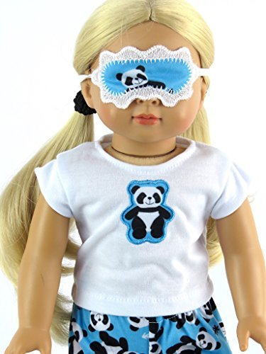 """Panda Bear Pajamas Fits 18"""" American Girl Dolls, Madame Alexander, Our Generation, etc. 