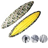 Caissip Boat Kayak Canoe Cover 8.5 Ft to 18 Ft Sunblock & Waterproof UV 50+ Sunlight Shield Protectors Outdoor Storage Cover