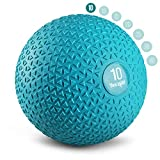 Yes4All Slam Balls 10lbs for Strength and Crossfit Workout – Slam Medicine Ball, Trendy Teal (ZR6J)