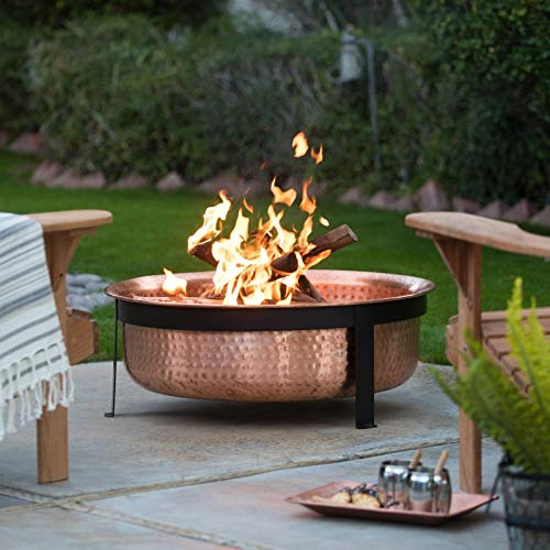 Jee Design- Fire Pits Outdoor Wood Burning-Fire Pit Tables for Outside Patio-Copper Wood Burning Fire Pit-The Centerpiece of Your Outdoor Entertainment Space