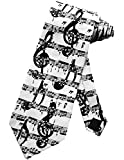 Corbata Símbolos De Partituras Musicales Corbata Corbata Blanca Corbatas Corbata De Seda,Largo145Cm