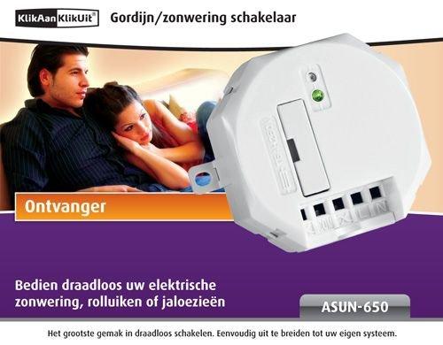 KlikAanKlikUit ASUN-650 draadloze afstandsbediening (RF, draadloos, wit)