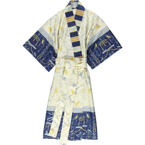 Bassetti OPLONTIS Kimono, katoen, blauw, 140 x 55 x 1 cm