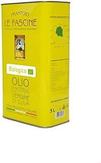 Le Fascine Olio Extravergine d'Oliva Provenzale Biologico Pugliese 100% Italiano Prodotto da mono cultivar Provenzale ( Pe...