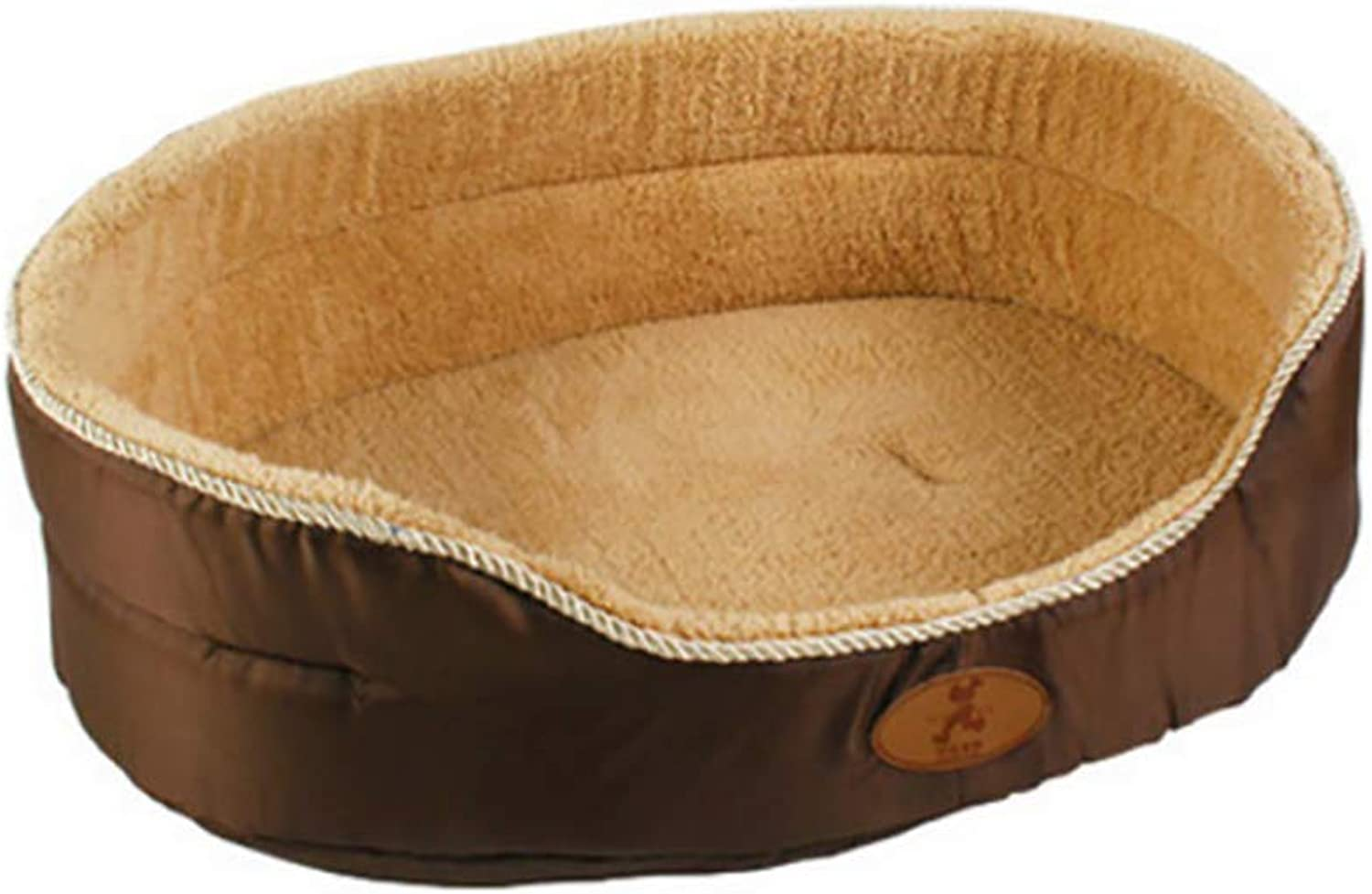 Deluxe Cozy Pet Bed Ultra Soft Comfortable Dog Bed, Washable Short Plush Cushion Warm Luxury Pet Basket,B,L