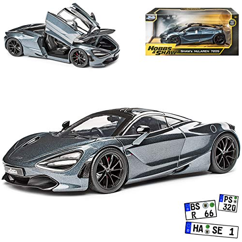 McLaren 720S Coupe Grau Hobbs & Shawn The Fast and The Furious 1/24 Jada Modell Auto