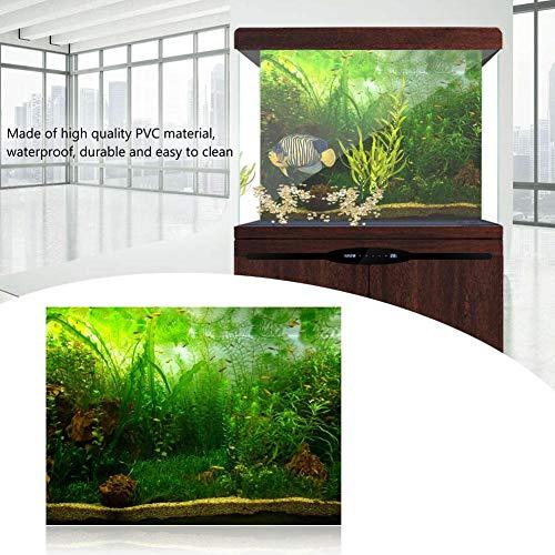 Filfeel Aquarium Fond Aquarium Décorations Photos PVC Affiche Adhésive Eau Herbe Style Affiche Décorative Coller Autocollant (76 x 46 cm)
