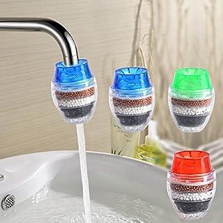 Blanketswarm Aléatoire 3 Mini filtre à eau Purificateur de robinet Purificateur de charbon Outil Maison