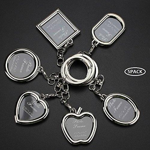 Deesos 5 Stück kreativ Mini-Bilderrahmen Schlüsselanhänger Party-Tasche Geschenk Bild Schlüsselanhänger Foto-Halter Auto-Schlüsselanhänger