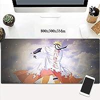 ゲーミングマウスマット防水ラージマウスマット、滑り止めラバー、強化エッジ、改善された精度と速度、マウスパッド (Color : A)