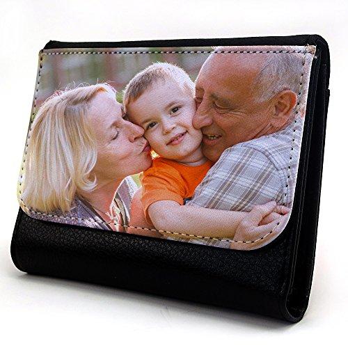 LolaPix Cartera Personalizada Hombre con tu Foto/Diseño/Texto. Regalo Original y Exclusivo. Tejido en Cartera Símil Piel. Mediana
