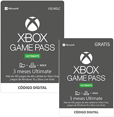 Suscripcion Xbox Game Pass Ultimate - 3 Meses   + 3 Meses Gratis | Xbox One/Windows 10 PC - Código de descarga