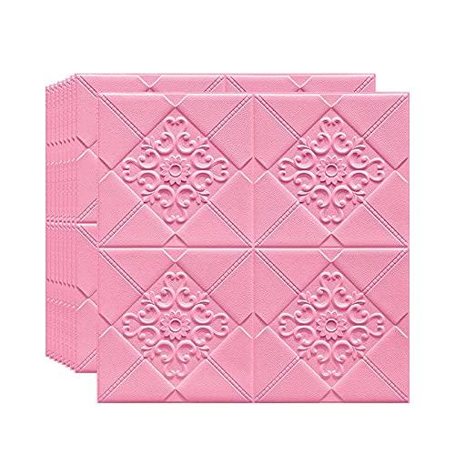 ZGC 3D Papel Pintado ladrillo, Paneles Decorativos 3D Piedra para Cuarto de Baño, Sala de Estar y Cocina,Adhesivo de Pared Blando anticolisión,70cm x 70cm,Autoadhesivo,Impermeable(Color:B,Size:10Pcs)