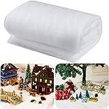BBTO Set de Manta de Nieve de Navidad Mantas de Nieve Artificial para Decoraciones de Telón de Fondo de Pueblo de Navidad (1 Pieza, 31 Pulgadas x 7,9 Feet)