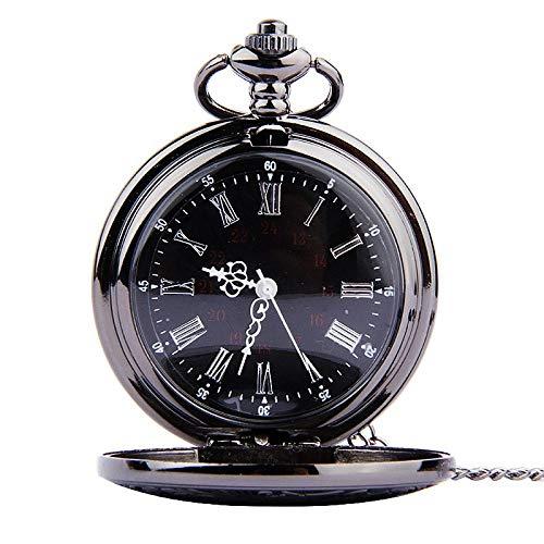 LOOIUEX Reloj de Bolsillo Cinturón de Acero Impermeable Hueco Reloj para Hombre Reloj mecánico automático Reloj Reloj al por Mayor Relogio De Bolso # 4O15