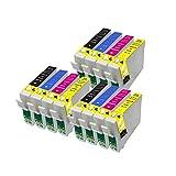 12ECS cartucho de tinta compatible reemplazar T0551T0552T0553T0554para impresoras Epson Stylus Photo R240R245RX420RX425RX520