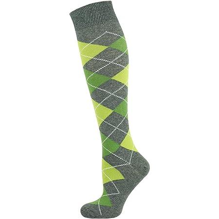 Mysocks Unisex Knee High Argyle Socks