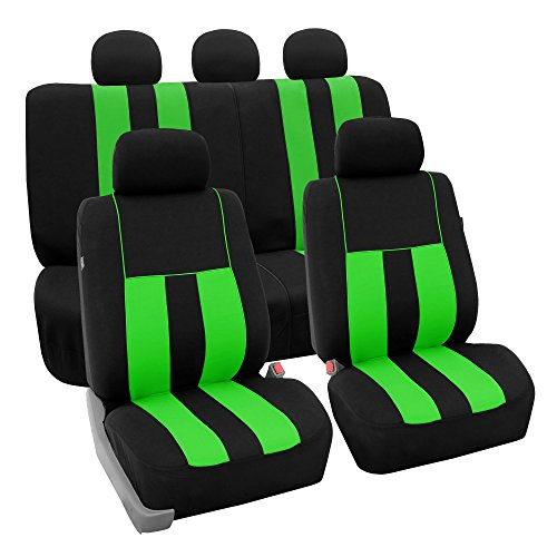 FH Group FB036GREEN115 Seat Cover (Airbag Compatible and Split Bench Green)