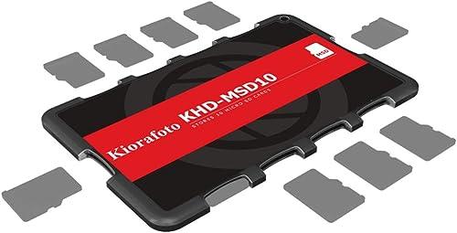 Kiorafoto Khd-Msd10 Slim Credit Card Size Durable Lightweight Portable Micro Sd Memory Card Case Storage Holder Prote...