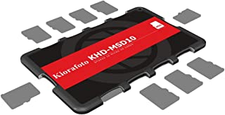 Kiorafoto Khd-Msd10 Slim Credit Card Size Durable Lightweight Portable Micro Sd Memory Card Case Storage Holder Protector ...