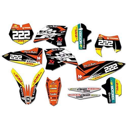 Motocicleta Pegatinas for KTM 125 200 250 300 350 450 525 SX SXF 2007 2008 2009 2010 EXC XCF XCF 2008 09 10 2011 (Color : Black)