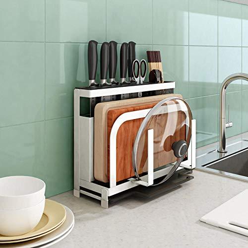 KNFBOK selbstschärfender messerblock Küche liefert Cutter Lagerregal Multifunktions-Schneidebrett Schneidebrett Rack Küchenmesser Rack Rack Messer Sitz grün