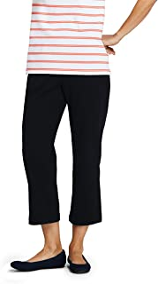Lands' End Women's Petite Sport Knit Elastic Waist Pull On Crop Pants
