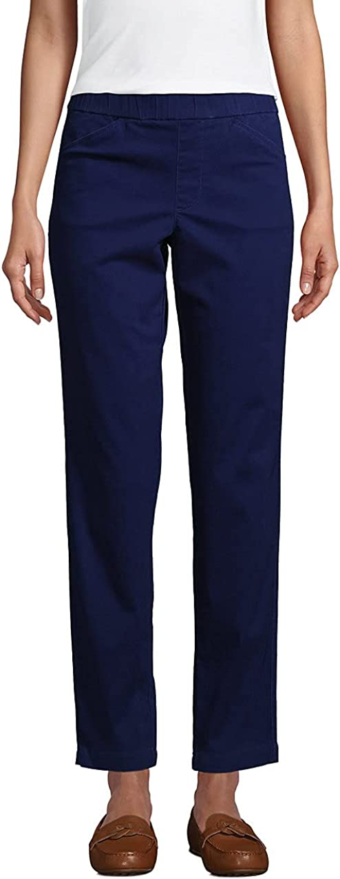 Lands' End Women's Mid Rise Pull On Chino Ankle Pants 6