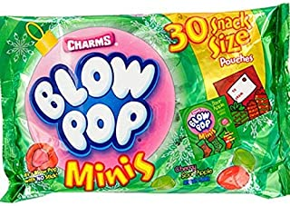 Charms Blow Pops Minis Candy Snack Pouches, Bag of 30
