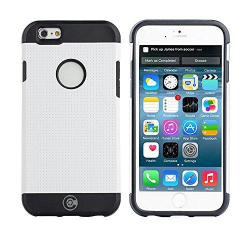 iPhone 6S Schutzhülle, iPhone 6Fällen von Kabel und Fall–Für die iPhone 6und iphone6s [rutschfest] [Heavy Duty] [die passgenauen] Sorgen iPhone 6(4,7) Armor Schutzhülle Slim, weiß