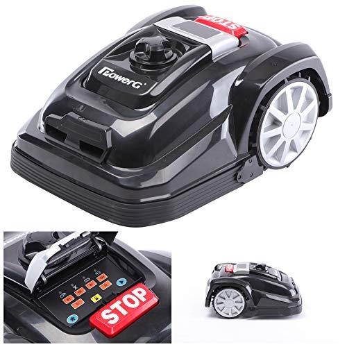 PowerG EasyMow 6HD - Robot cortacésped EasyMow 6HD, apto para superficies de hasta 600 m², función de corte de bordes y motor sin escobillas, 28 V, negro/naranja