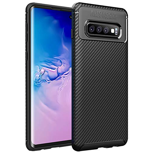 HBorna Case for Samsung Galaxy S10e 2019 Release, Carbon Fiber Ultra Thin Soft TPU Case for Business Man, Anti-Scratches Flexible Protective Cover Compatible with Samsung Galaxy S10 E 2019