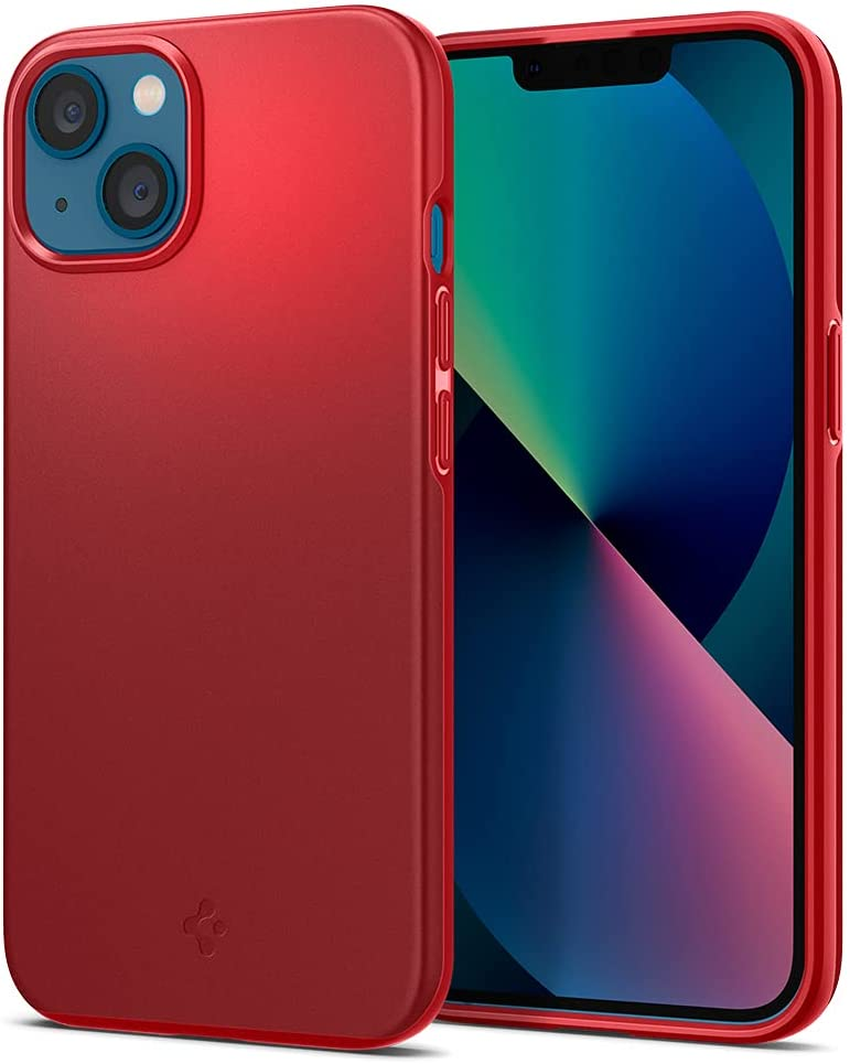 Spigen Thin Fit Designed for iPhone 13 Mini Case (2021) - Red