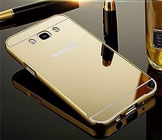 Capa Case Bumper Alumínio Espelhada Samsung Galaxy J7 Metal 2016 J710 Dourado