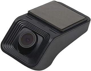 BYBYC Auto Navigation Monitor Mini Noche de conducción Digital Vision Coche DVR Grabador de vídeo Amplia CAM Dash ángulo ADAS HD 1080PNegro