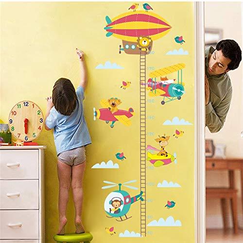SUNYU Cartoon Luftballon Giraffe AFFE Löwe Höhe Maßnahme Wandaufkleber Für Kinderzimmer Kinder Wachstum Chart Wandtattoos Wohnkultur