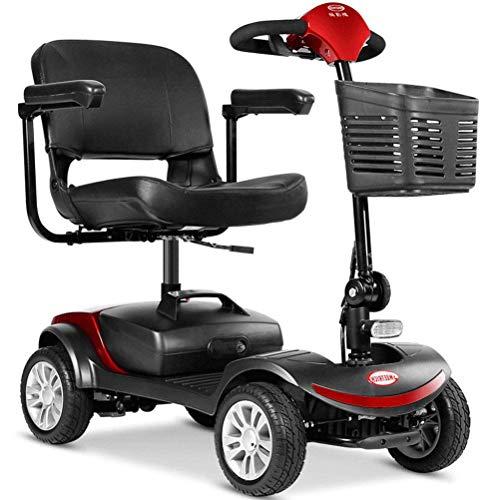 XYDDC Scooter 4 Wheel Drive mit Beleuchtung Elektroroller für Erwachsene/Ältere/Behinderte Freizeit Scooter Elektro-Rollstuhl Long Range Travel Scooter bis zu 8 km/h, 35 km Reichweite