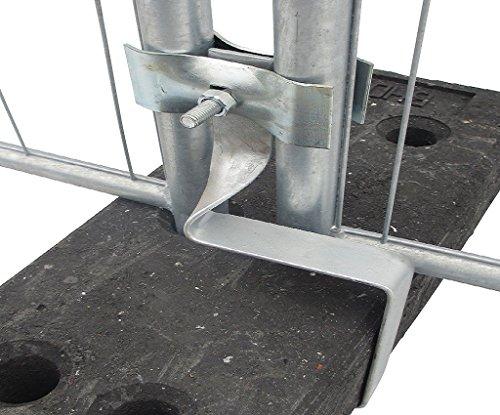 Aushebesicherung für Bauzaun - verhindert das Ausheben der Bauzäune aus den Standfüßen