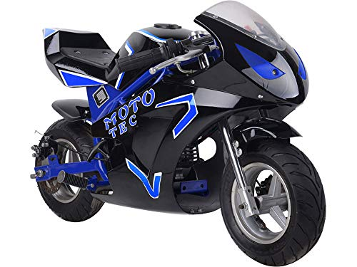 MotoTec Gas Pocket Bike Gt 49Cc 2 Stroke Blue