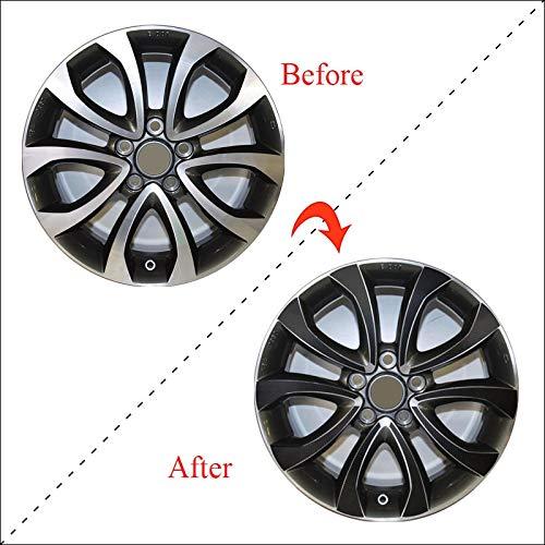 SEHNL 3D Carbon/Mate/Glossy Black Wheel Stickers Pegatinas de Coche para Nissan Juke Tekna 2013-2017 17'Wheeh Decal Vinyl (para 4 Ruedas) Motocicleta Llantas