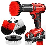 Cepillo de Taladro Eléctrico, 6 PiezasMultifuncional Cepillo Limpieza Coche, Drill Brush, Limpia Juntas, para Limpiar Baño, Piso, Azulejo, Esquinas, Cocina