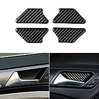 VWゴルフ6MK6カーカーボンファイバーセンターコントロールパネルエアベントギアシフトフレームヘッドライトスイッチ灰皿ボックスカバーインナートリム用