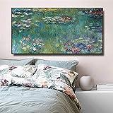 Claude Monet Water Lotus pinturas en lienzo reproducción impresionista carteles e impresiones cuadro...