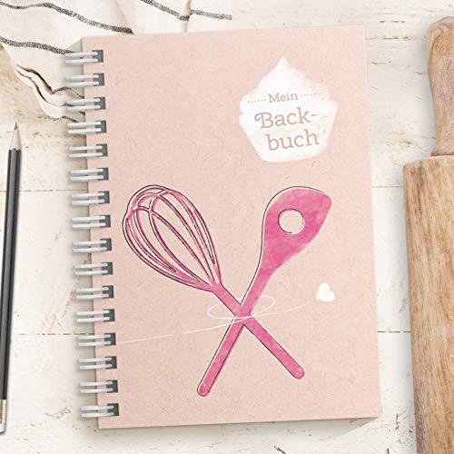 Kreatives DIY Backbuch für Backrezepte - PINK - zum reinschreiben und wieder backen für 33 Rezepte (DIN A5, Ringbindung mit Register, Inhaltsverzeichnis und Seitenzahlen)
