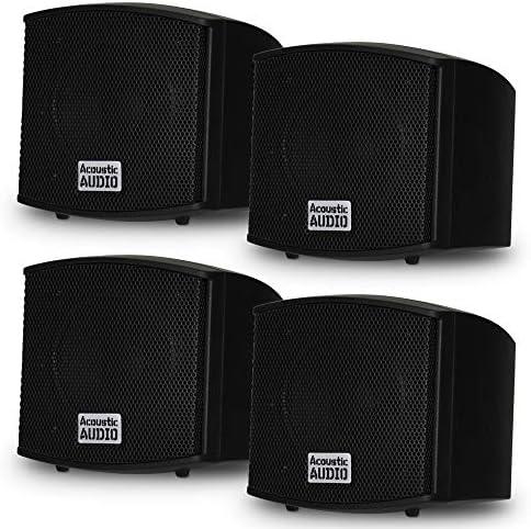 Acoustic Audio AA321B Mountable Indoor Speakers 800 Watts Black 2 Pair Pack AA321B 2Pr product image