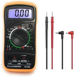 Digitale multimeter XL830L met LCD-achtergrondverlichting, meetinstrument voor stroom, AC/DC-spanning, weerstand, continuï...