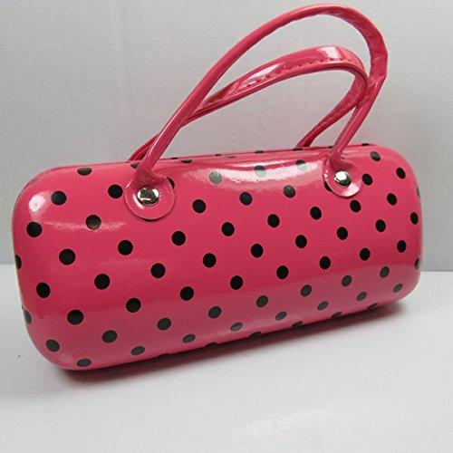 Chique brillenkoker roze brillendoos handtas design harde schaal met handvat