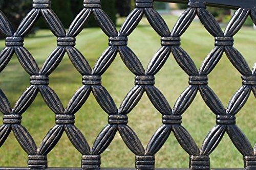 Warwick Gartenbank aus Metall mit Rückenlehne aus Gusseisen im Netzmuster - 3