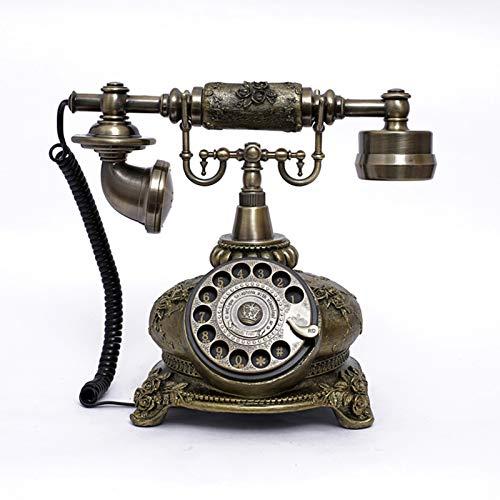 Cajolg Teléfonos rotativos Retro Teléfono Antiguo Teléfono Decorativo Retro Creativo Teléfono de marcación giratoria Teléfono Fijo Teléfono Fijo Teléfono de Escritorio,B