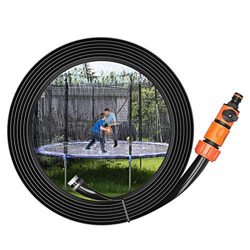 Sistema de riego – Agua cama elástica con pulverizador de 15 m de juguete, aspersor accesorios Kit, parque acuático, juegos de verano Backyard para niños, niñas, adultos